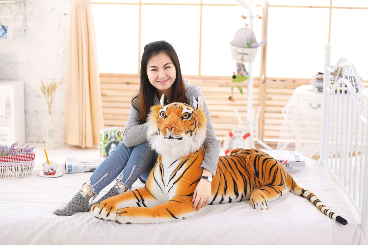 stuffed plush toy large 105 cm plush simulation lying tiger toy doll great gift b0667 stuffed simulation animal snake anaconda boa plush toy about 280cm doll great gift free shipping w004