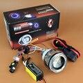2.0 pulgadas HID Bi-xenon Lente Del Proyector de la Linterna Del Faro Proyector Con CCFL Angel Eye Halo Para H1 H4 H7, Accesorios de la motocicleta