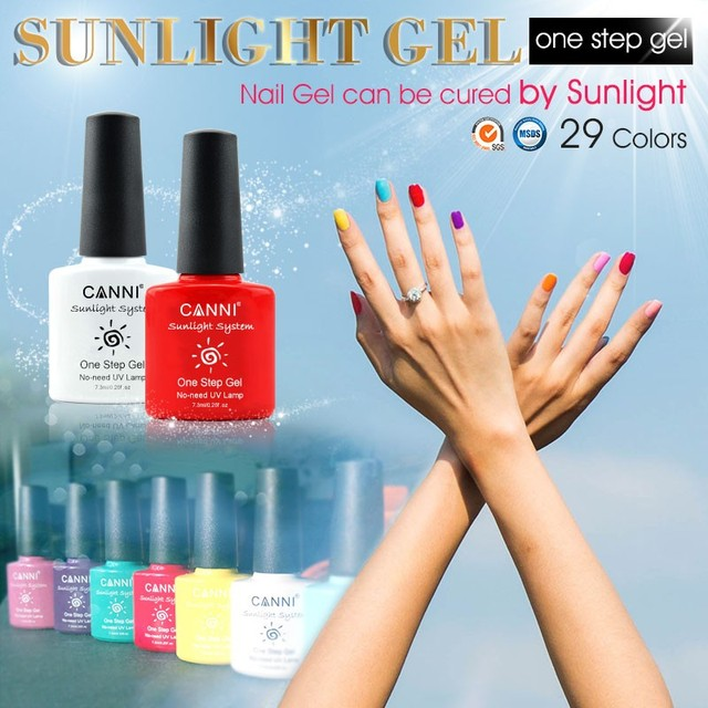 1pcs 7.3ml CANNI Nail Gel 29 Color Sunlight One Step Gel Nail Polish ...