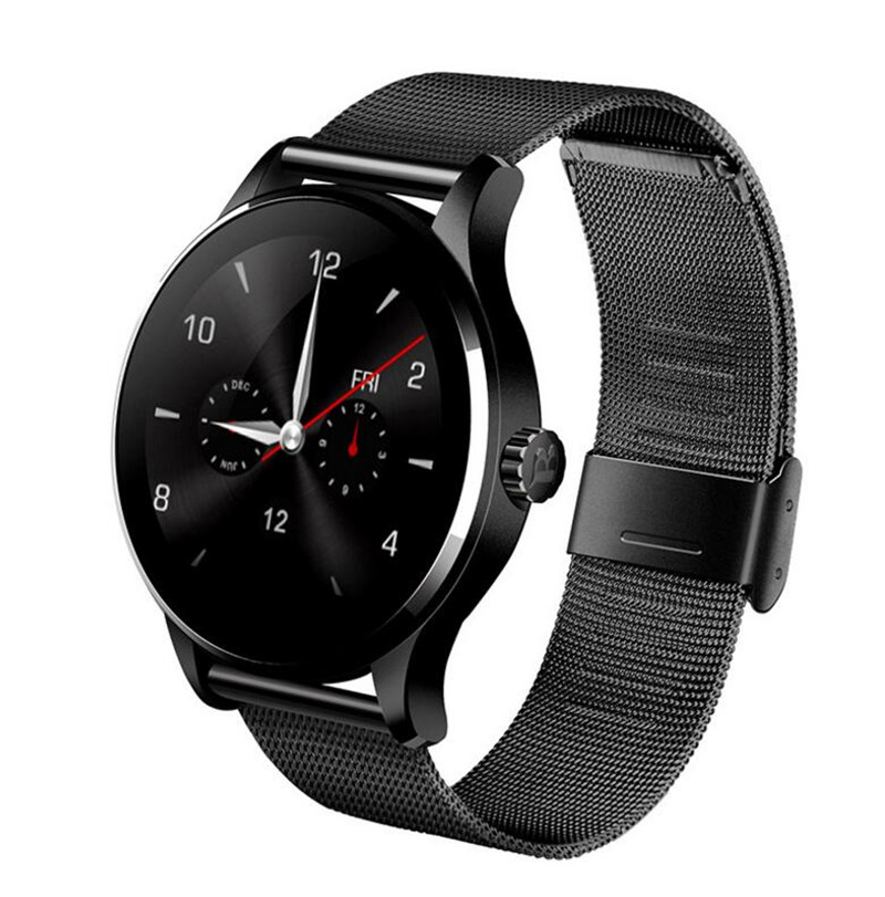 K88H Bluetooth Smart Watch Classic Health Metal Smartwatch Heart Rate Monitor For Android IOS Phone Remote Camera Clock Reloje цена