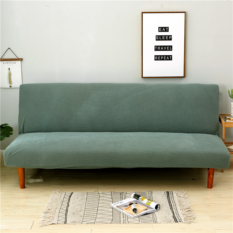 Cyan Color Universal Anti Dirty Black Armless Couch Sofa