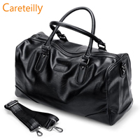Careteilly PU leathear Duffel Bags Big Capacity duffel bags with shoulder straps