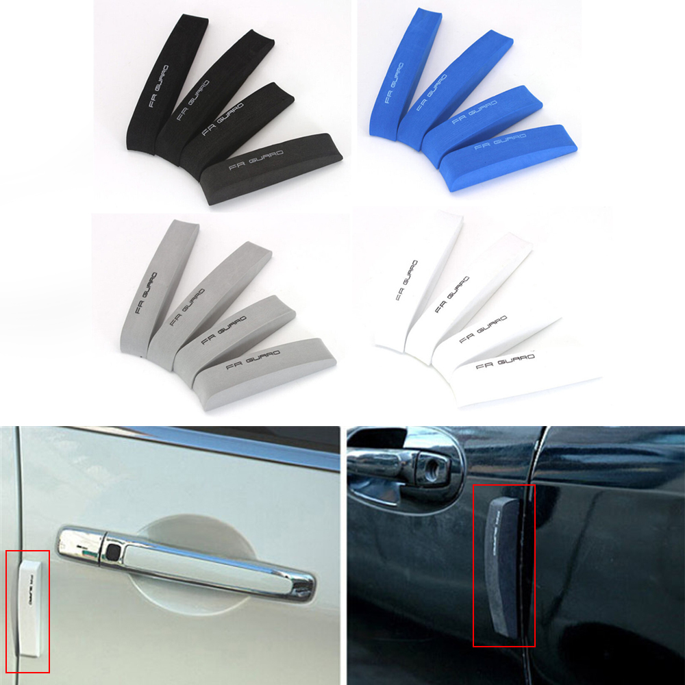 Universal Car Door Bumper Strip Door Scuff Trim Bumper Protector Parachoques EVA Car Bumper Guard 4pcs Per Set Car Styling protective pvc car bumper guard protector sticker white 2 pcs