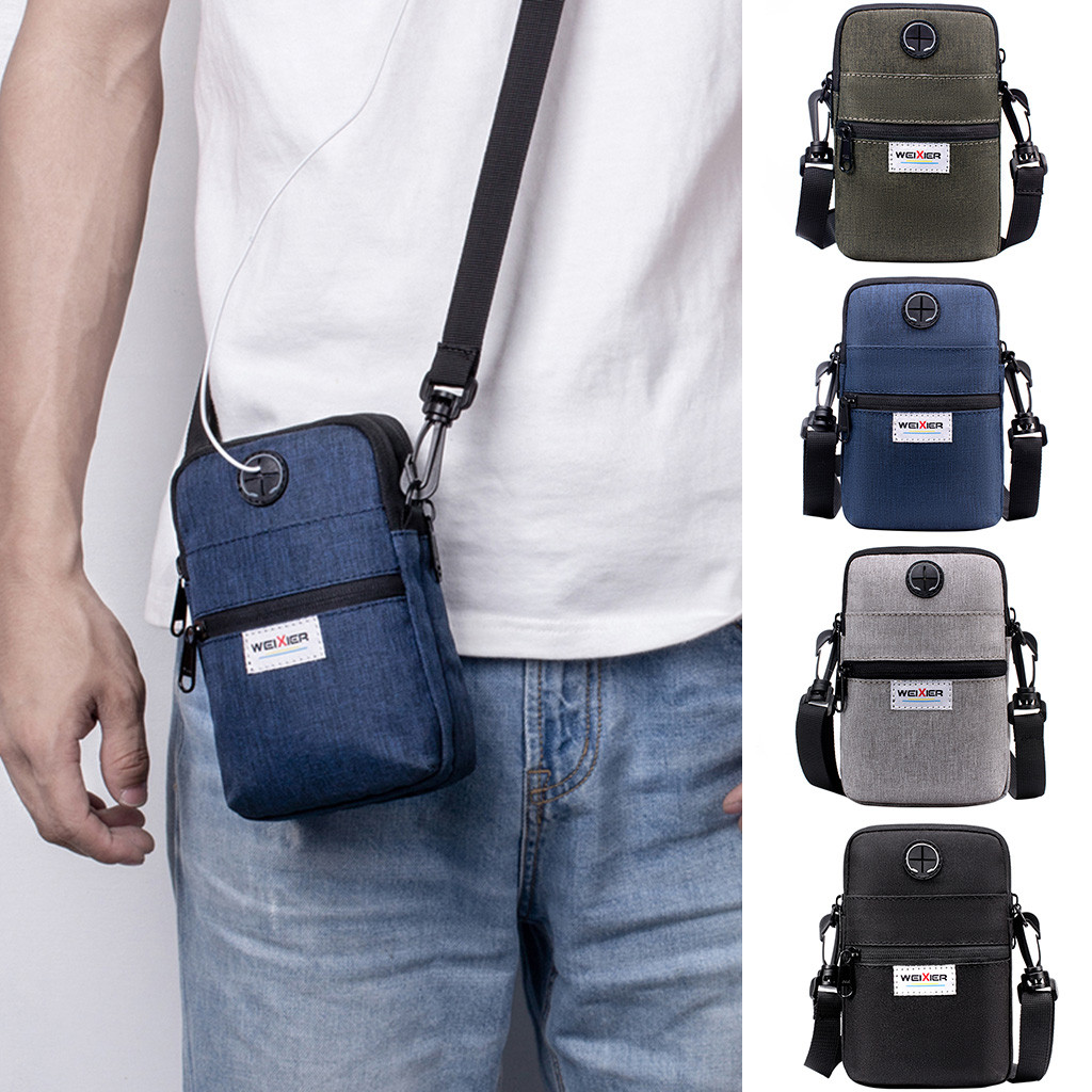 Men's Shoulder Bag Men Diagonal Mini Shoulder Multi-Function Mobile Phone Bag Outdoor Sports Bag