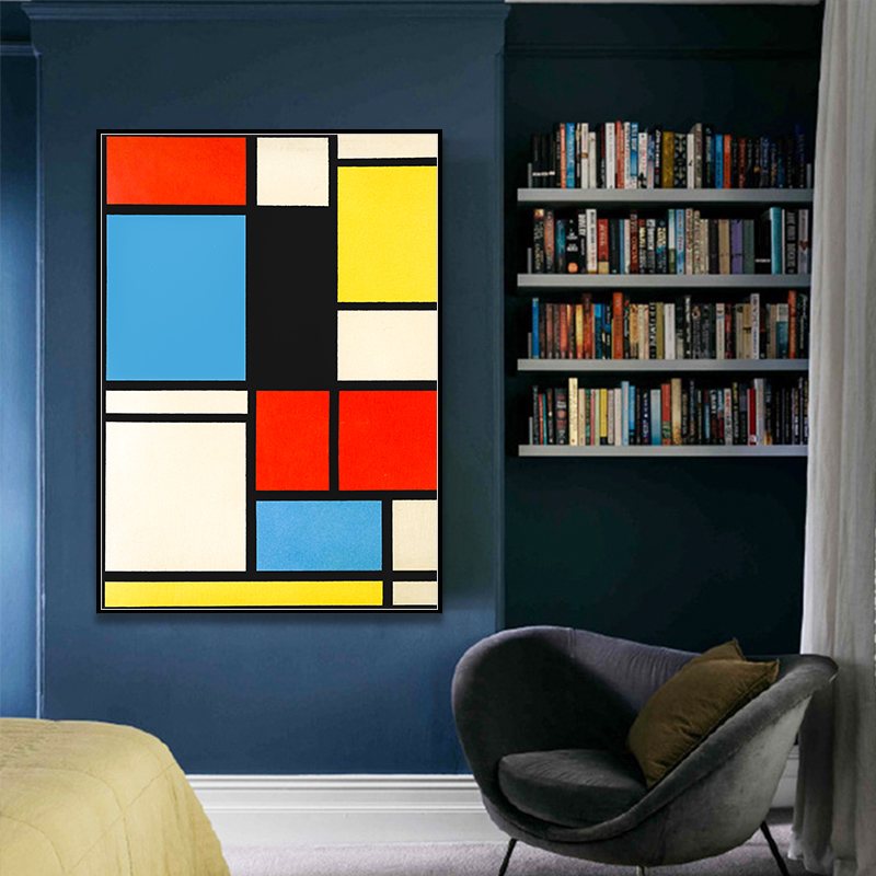 Piet-Cornelies-Mondrian-Classic-Art-Geometry-Line-Red-Blue-Yellow-Composition-Canvas-Print-Painting-Poster-Wall (3)