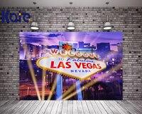 Kate Festa de Casino Las Vegas Cidade Fotografia Backdrops 10x10ft Fundos Para Estúdio de Fotografia Luz Algodão Lavável Photocall
