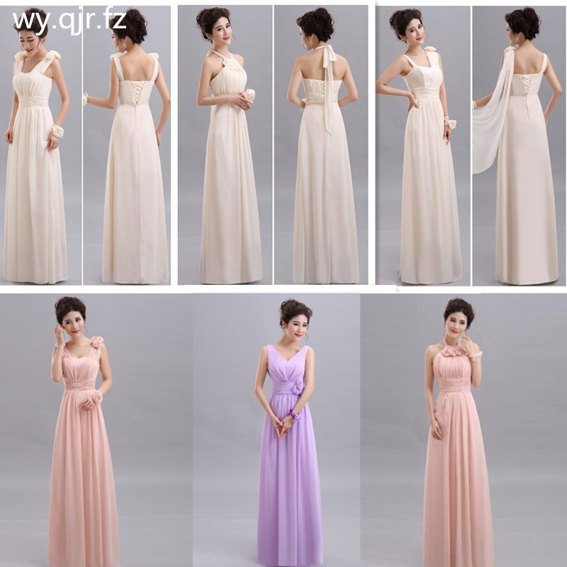PTH-70X#Halter Lace Up Chiffon Peach Purple Champagne nude pink   Bridesmaid     Dresses   Long wholesale Custom wedding party   dress   gir