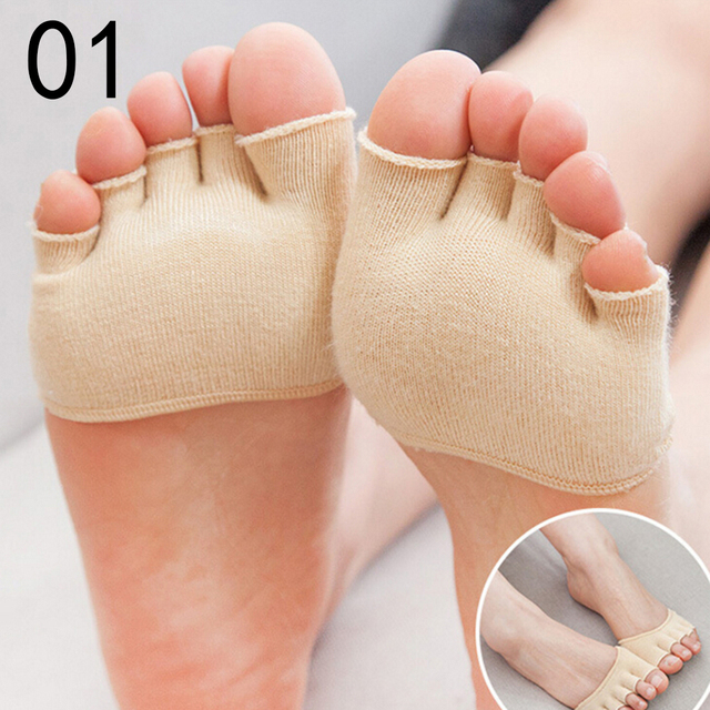 1 Pair Invisible Non Slip Toe Half Grip Heel Five Finger Socks Health Care Accessories  Feet Care Tools 4