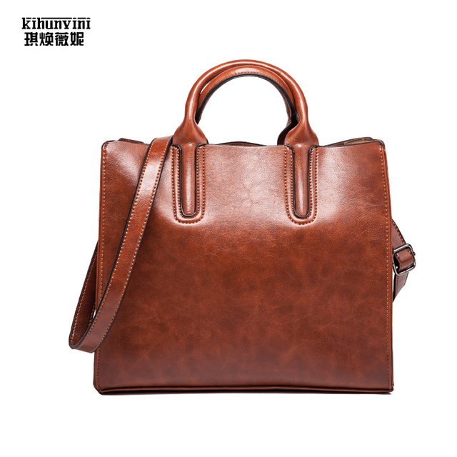 c2422a79da Fashion bags ladies Luxury handbags Women bags Designer Handbag Oil Wax  Leather Hand Bag Shoulder Crossbody Bag Female Purse