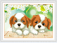 New Cross Stitch Two Puppies Diamond Painting 5d Diy Crafts Decorative Paintings Needlework Home Decor Mosaic