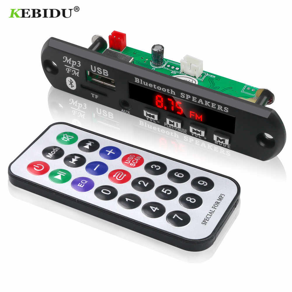 KEBIDU TF Radio MP3 Scheda di Decodifica 5V Modulo Audio per Auto Altoparlante di Musica A Distanza DC 5V 12V USB di Alimentazione Bluetooth lettore Mp3