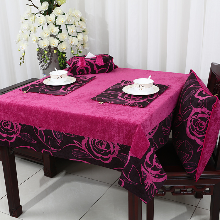 New Patchwork Thick Rose Table Cloth Europe American Style Tea Table Cloth  Luxury Dining Table Protection Pads Table Cover
