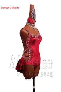 Image 3 - Latin Dance Performance Costumes Competition Clothing Women Girls Salsa Dance Jumpsuits Sexy Backless Bandage Dress Dancewear