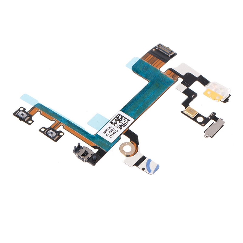Phone Power Button On Off Mute Volume Switch Connector Flex Cable For iPhone 5S