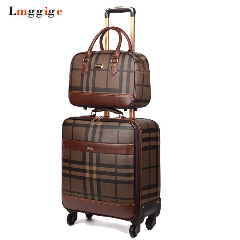 Cabin Luggage bag with handbag,Suitcase set,Waterproof PU Travel Box with Wheel ,Rolling Trolley case abs hardside rolling luggage set with handbag women travel suitcase bag with cosmetic bag 2022242628inch wheel trolley case