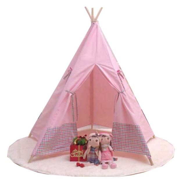 sch ne cartoon tipi kind spielen zelt baumwolle leinwand kinder tipi wei. Black Bedroom Furniture Sets. Home Design Ideas