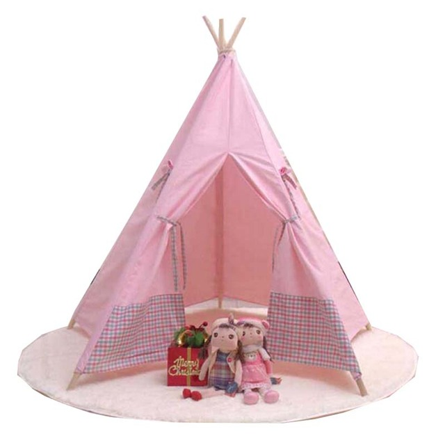 sch ne cartoon tipi kind spielen zelt baumwolle leinwand. Black Bedroom Furniture Sets. Home Design Ideas