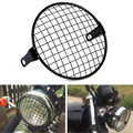 JX-LCLYL 6 5 дюймов Ретро металлическая передняя фара для мотоцикла сетчатая решетка крышка маска квадратная сетка для Harley Honda