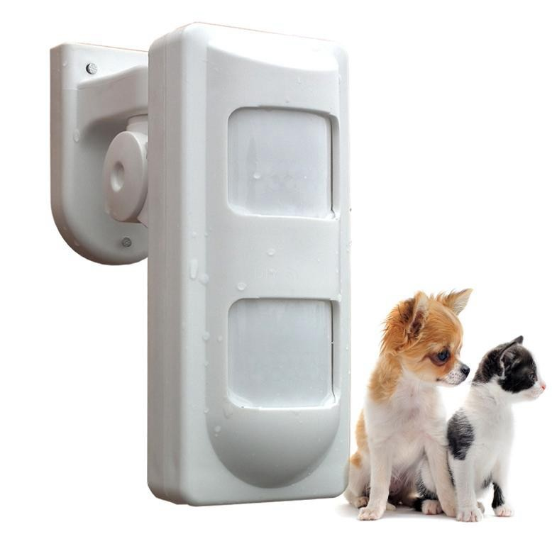 433MHz Wireless Outdoor Alarm PIR Detector Motion Sensor with Dual-element PIR, Pet Immune,IP65 Waterproof