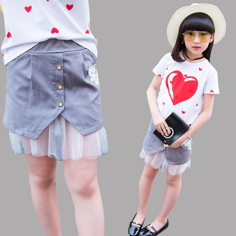 Детские юбки для Обувь для девочек Летняя сетчатая детская одежда Jupe Bbay Низ младенческой Костюмы 2 4 6 8 9 От 10 до 12 лет Обувь для девочек прямые...