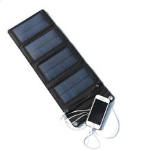 GOLDFOX 7W 5.5V Portable Folding Foldable Capming Solar panel Charger USB Solar Battery Panel Mobile Phone Power Bank Charger