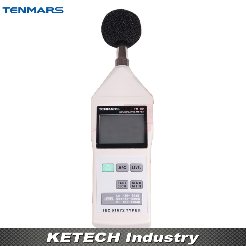 Sound Level Meter TM-101 IEC 61672, Type II LO, MED, HI ranges AC/DC Signal Output