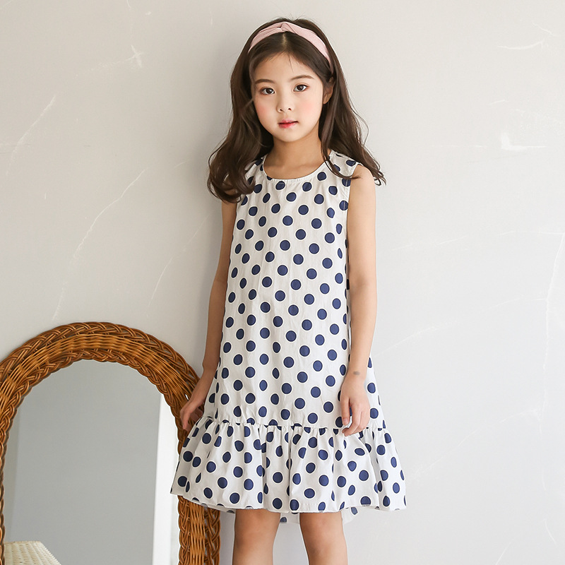 2018 Fashion Baby Girl Frocks Sleeveless Dress for Children Clothes Kids Party Dresses Polka Dot Girls Backelss Summer Dress retail fashion summer girl dress sleeveless kids dresses for girl tutu party dress lace polka dot novatx brand girls clothes