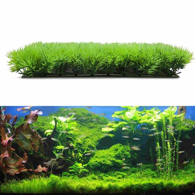 25*25cm Aquarium Aquarium Landschaft Decor Künstliche Grün Gras Gefälschte Wasser Wasserpflanze Rasen Aquarium Substrat Dekoration