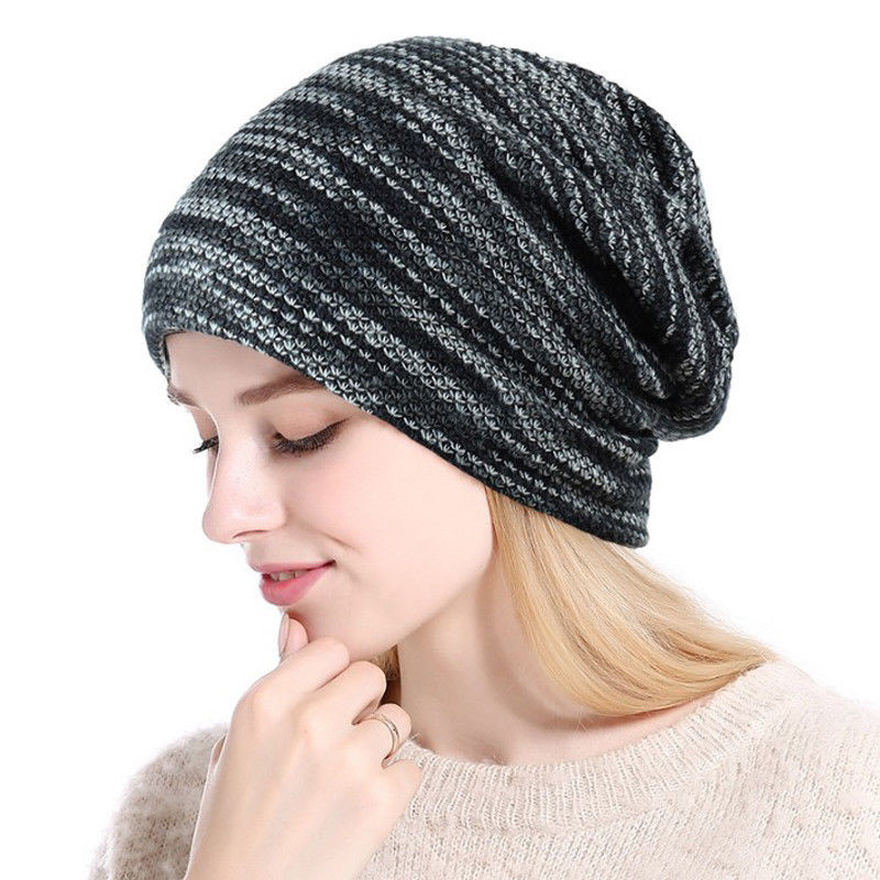 New Winter Hats For Women Cotton Knitted Hat Casual Warm Hat Female Skullies Beanies Red Blue Gray