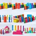 120 unidades de dominó estándar adulto juego bloques de construcción de juguetes educativos para niños