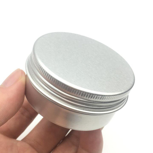 Image 3 - 100PCS 5g 10g 15g 20g 30g 40g 50g 60g Aluminum Tin Jars Metal 50ml Empty Cosmetic Face Care Eye Cream Lip Balm Gloss Packaging