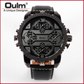 Top Luxury Brand OULM 3233 Watches new high quality 4 Time Zone watches men High quality Japan movement Military Watch