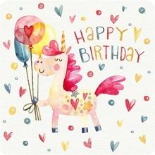 Laeacco Cartoon Unicorn Balloon Baby Birthday Party Photography Background Customized Photographic Backdrops For Photo Studio