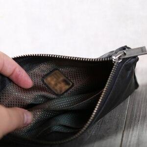 Image 4 - AETOO portefeuille en cuir fait à la main, couche de tête horizontale en cuir de vache