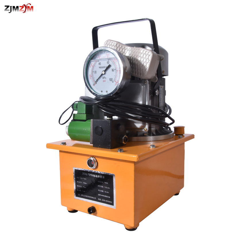 Hot Sale Hydraulic Electric Pump 220V/380V 750w ZCB-700D,7L 70Mpa Pressure Hydraulic Pump Pedal Solenoid Valve Oil Pressure Pump komatsu pc 6 pc 7 hydraulic pump proportional solenoid valve 702 21 07010