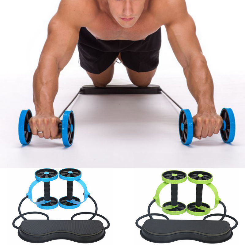 Multi Functional Abdominal Trainer Roller Wheel With