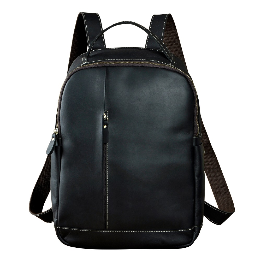 Men Real Leather Fashion Travel Bag University School Book Bag Cowhide Designer Male Backpack Daypack Student Laptop Bag 1197 original leather design university student school book bag male fashion knapsack daypack backpack travel 13 laptop bag men 9999