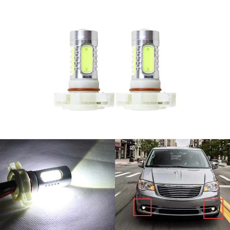 Direct Fit For Chrysler Town & Country 2010-2016 Front Led Fog Light Replacement Bulbs Car-Styling 11W Super White Car Lamp