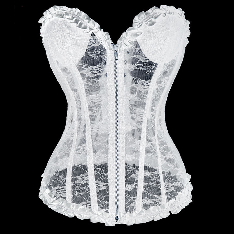 White floral lace strapless padded bra push up sexy bridal for Corset bras for wedding dresses