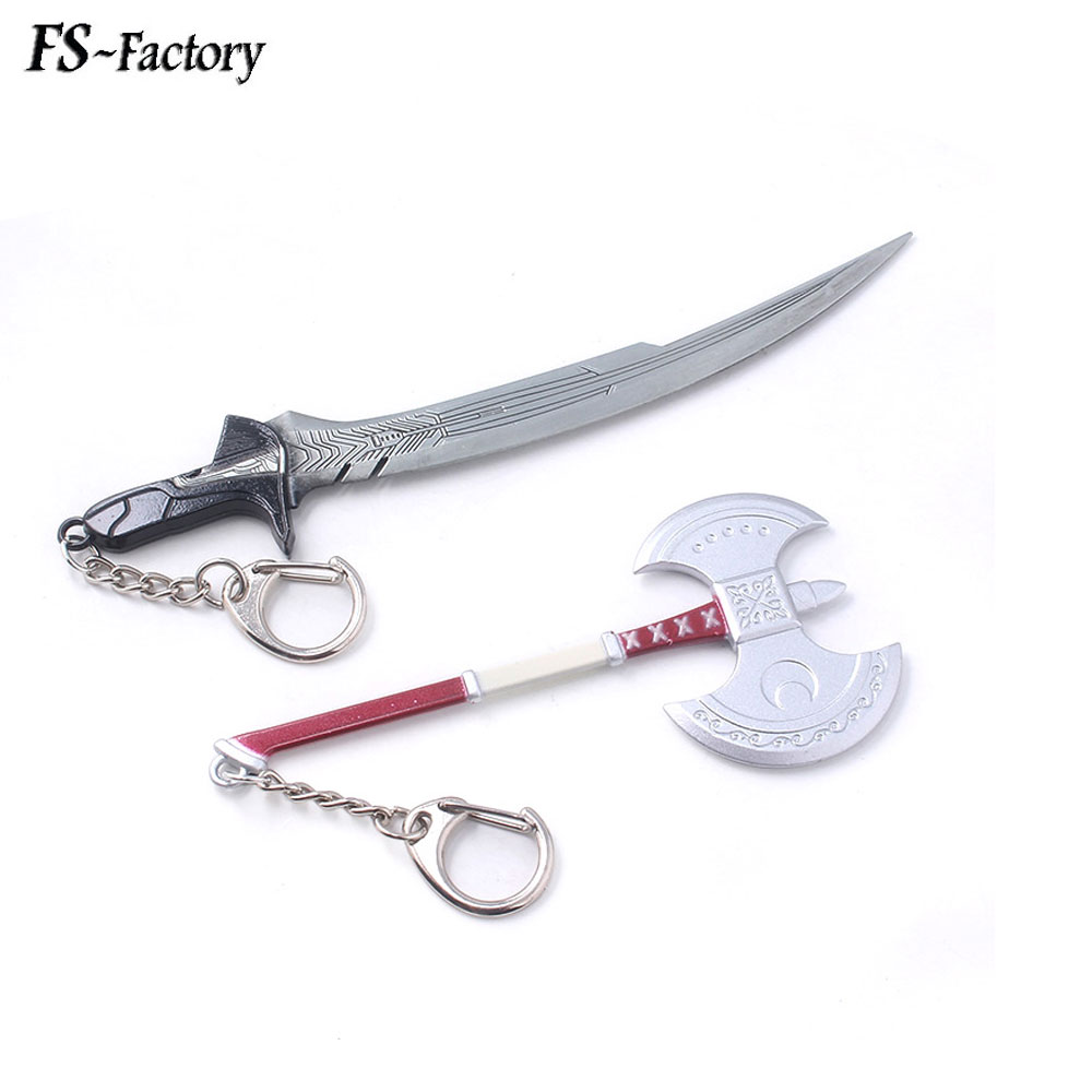 Game Persona 5 P5 Haru Okumura Axe Keychain Hatchet Weapon Model Key Chain for Women Men Car Keyring Cosplay Jewelry image