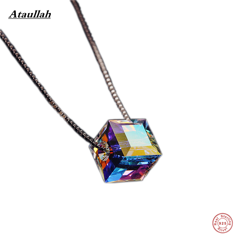Ataullah 925 Silver Candy Women Jewelry Necklace & Pendants Sterling Silver Austrian Crystal Pendant Certificate Verify NWP003 ...