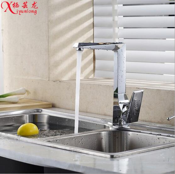 European manufacturers wholesale Full copper brass kitchen faucet hot cold vegetables basin faucet water tap free