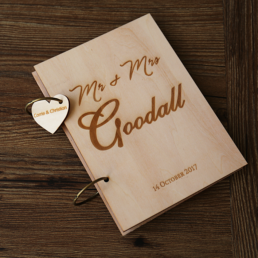 Custom Wedding Guest Book Personalized Initial Guestbook
