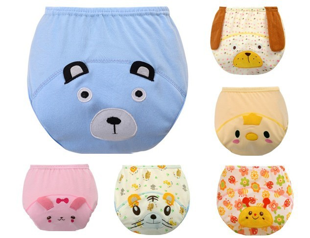 1Pcs Baby Training Pants Cotton Reusable Baby Diapers Waterproof Cloth Nappies Washable Diapers Bamboo Learning Pants #139