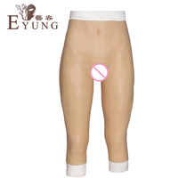 YR-CP-7 Super real silicone vaginal pants sexy fake pussy underwear for crossdresser transsexuals sissy boy drag queen shemale