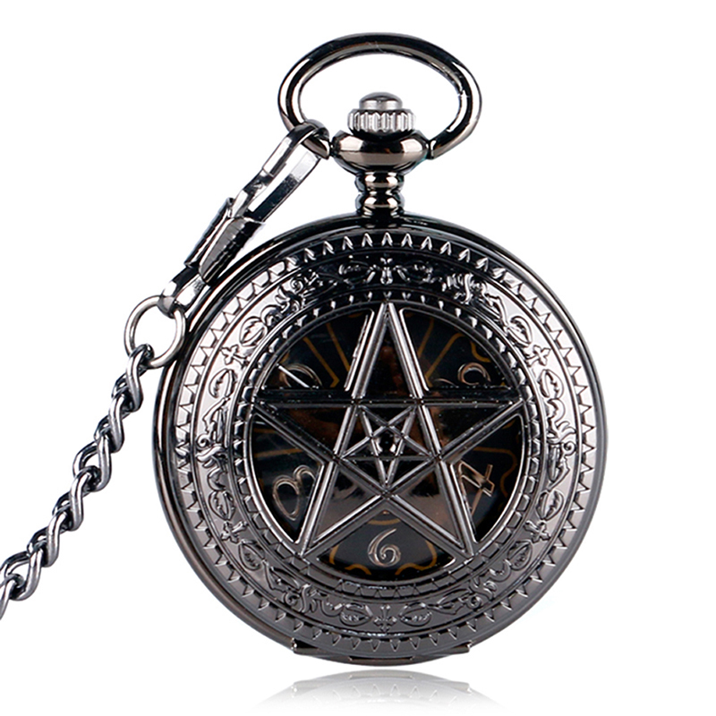 Modern Marshal Whirling Case United States Fashion Trendy Quartz Pocket Watch Men Women Necklace Pendant With Chain For Gifts
