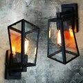 Loft North American type industrie retro wandleuchte bar café eisen beleuchtung restaurant balkon glas box wandleuchten|box wall light|wall lightretro wall lamp -