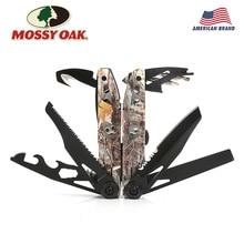 MOSSY OAK 21 en 1 alicates múltiples, pelador de cables, alicate plegable para acampar al aire libre, multiherramienta