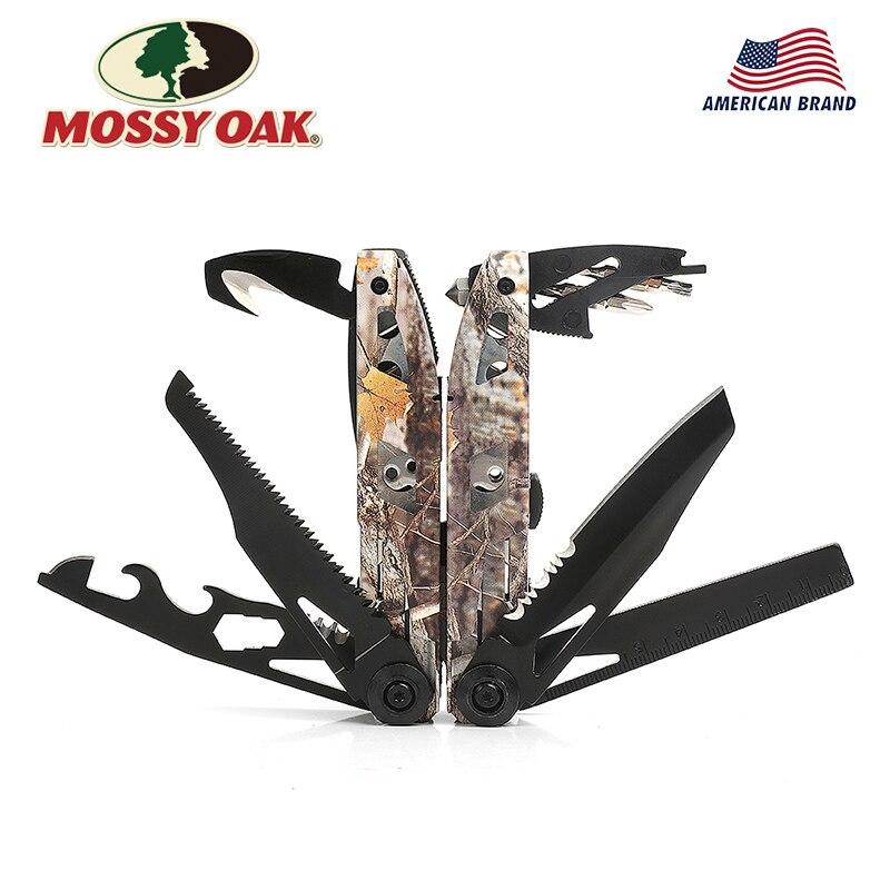 MOSSY OAK 21 in 1 multi plier wire stripper Folding Plier Outdoor camping Multitool(China)