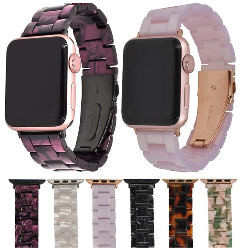 Imitation Ceramic Strap Band For APPLE Watch 3/2/1 42mm/38mm Iwatch Bracelet Wrist Resin Belt Watch Accessories Watchband